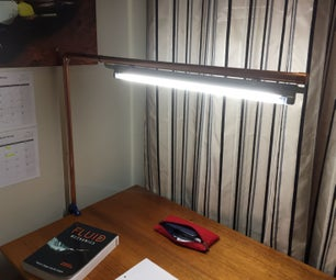 DIY Copper Overhead Desk Lamp
