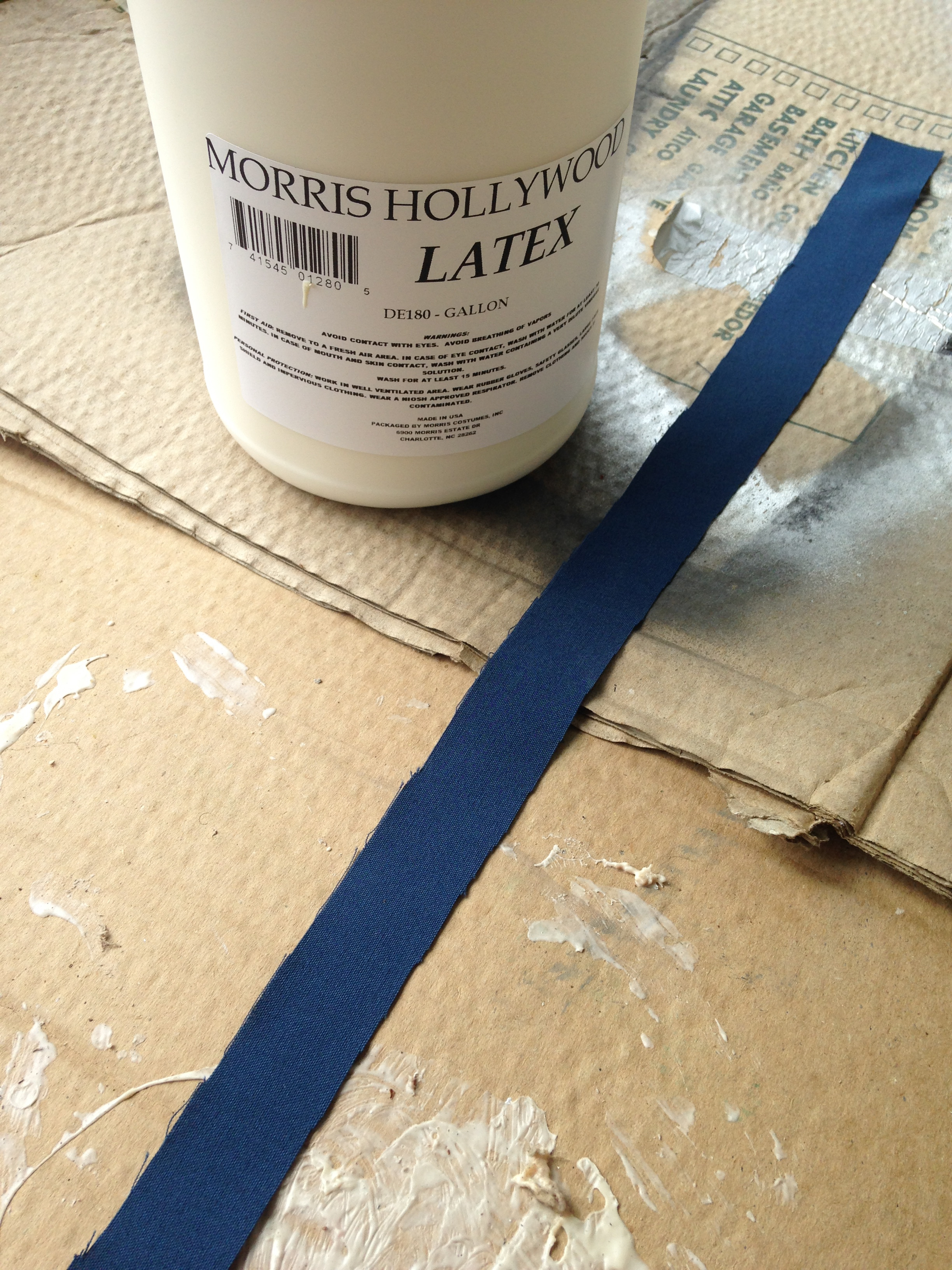 """Picture of Painting the """"Leather"""""""