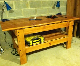 Upcycled Bunk Bed Workbench