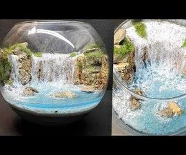 DIY Waterfall Terrarium|Diorama|Aquascape