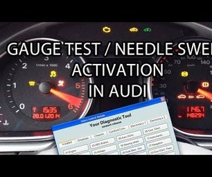Audi Needle Sweep Activation With VCDS