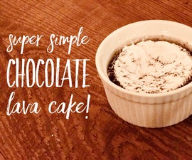 Super Simple Chocolate Lava Cake!