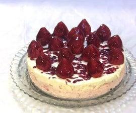 Strawberry and White Chocolate No Bake Cheesecake