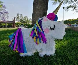 Unicorn Piñata Mexican Paper Art