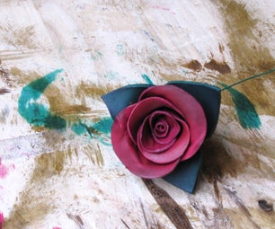 Making a Leather Rose