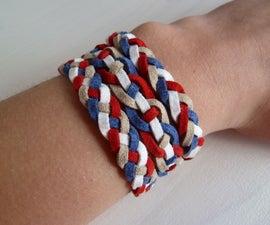 Four strands braided bracelets