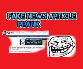 Fake News Article PRANK