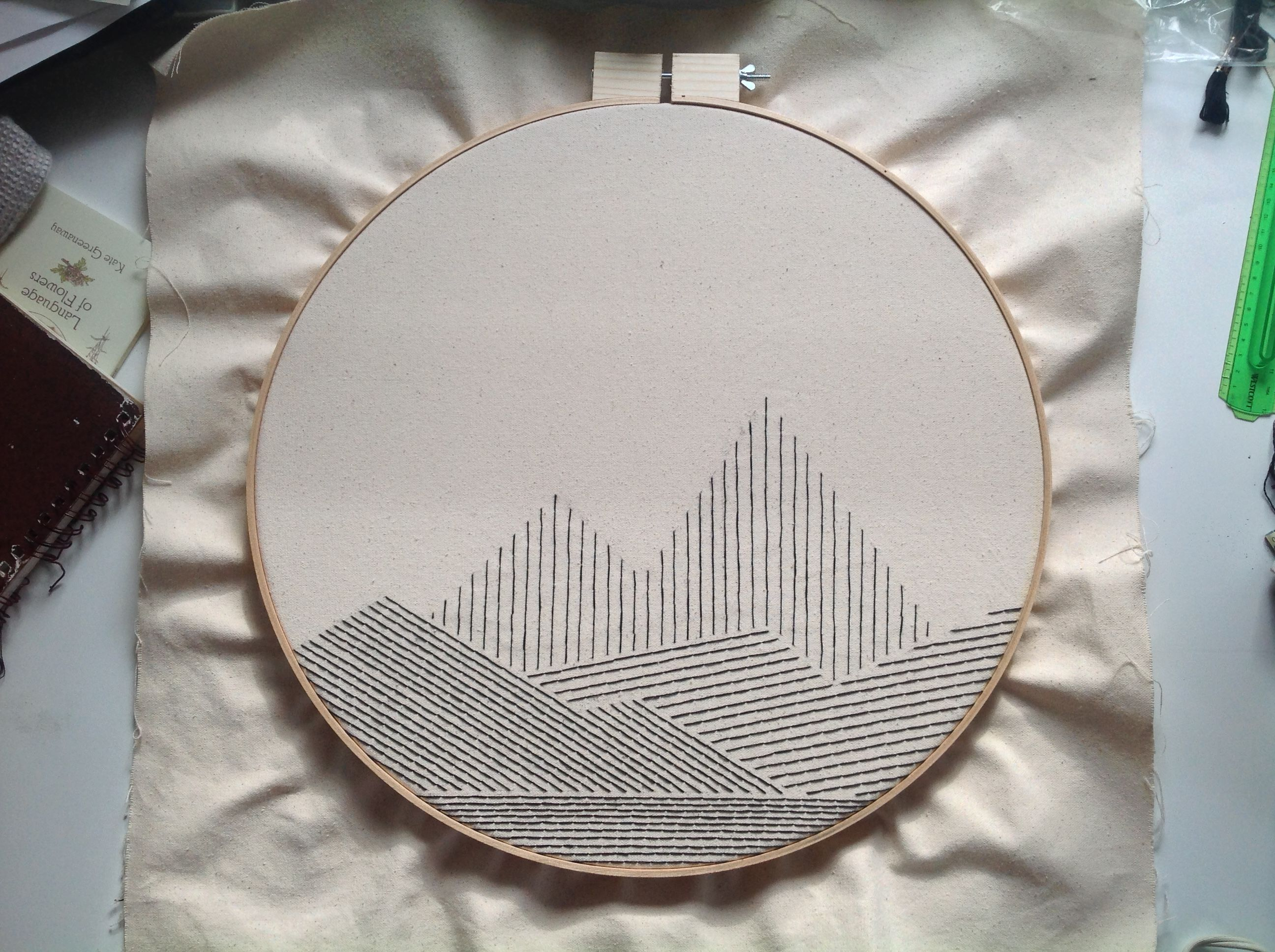 Picture of Big Geometric Mountain Embroidery