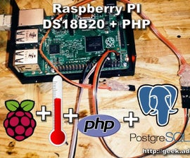 Raspberry PI With DS18b20 Web Server PHP - Remote Temperature Measurement
