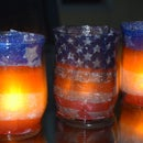 Independence Day Decoupage Patio Lights