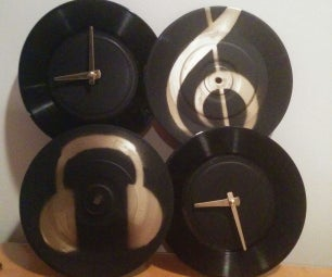 Vinyl Dual-country Clock
