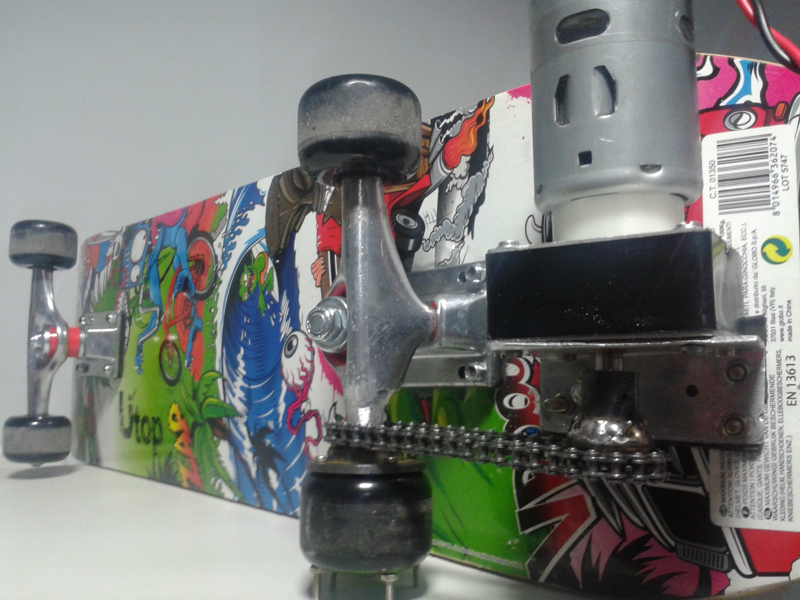 Picture of Mounting Motor on the Skateboard