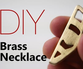 DIY Brass Necklace