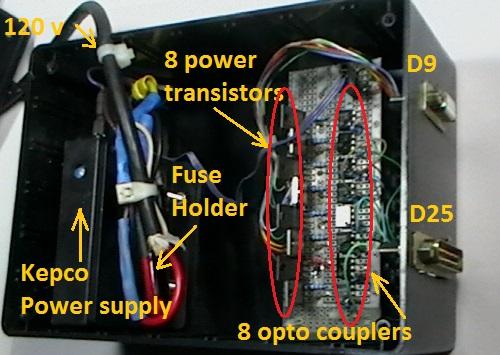 Picture of Simple IBM Compatible PC Printer Port (LPT1) Power Interface