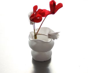 Designer Vases From Styrofoam Cups