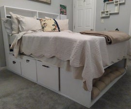 Custom Storage Bed for Humans and Pets