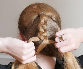 Single Braid Half Updo