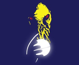Glowing Ood Alien Art (Doctor Who) Glass, Vinyl & LEDs