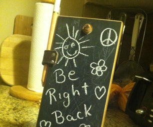 Recycled Pallet Note Pad Chalk Board