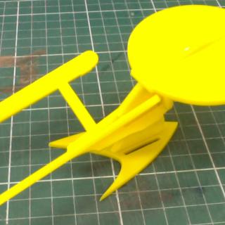 Laser Cut Star Trek Enterprise Model