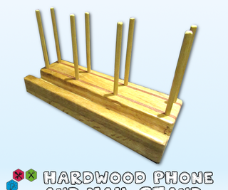 Hardwood Phone and Mail Stand in Sapele and Oak