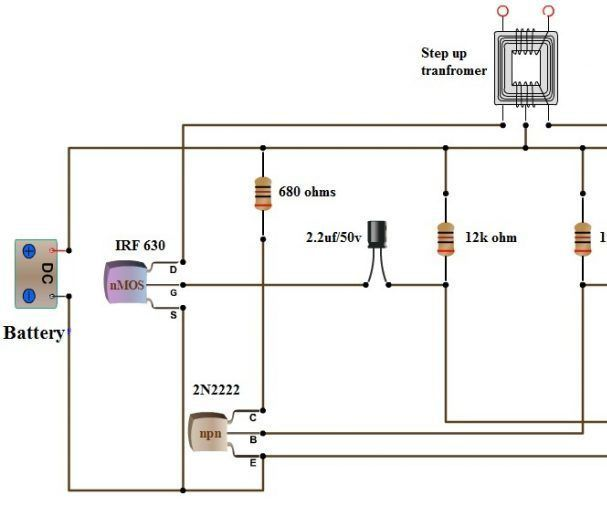 [SCHEMATICS_4FD]  Simple Dc to Ac Inverter Make : 3 Steps (with Pictures) - Instructables | Ac Dc Inverter Wiring Diagram |  | Instructables