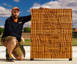 """Power Carved Giant """"Boot Print"""" Wood Wall Art Panel"""