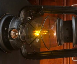 Convert Lamp From Kerosene to Flaming LEDs