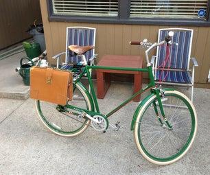 Bike Pannier From Old Briefcase
