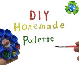 How To Make Palette From Trash (DIY Homemade CD&Bottlecap Palette )