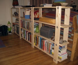 Cheap, Easy, Low-waste Bookshelf Plans