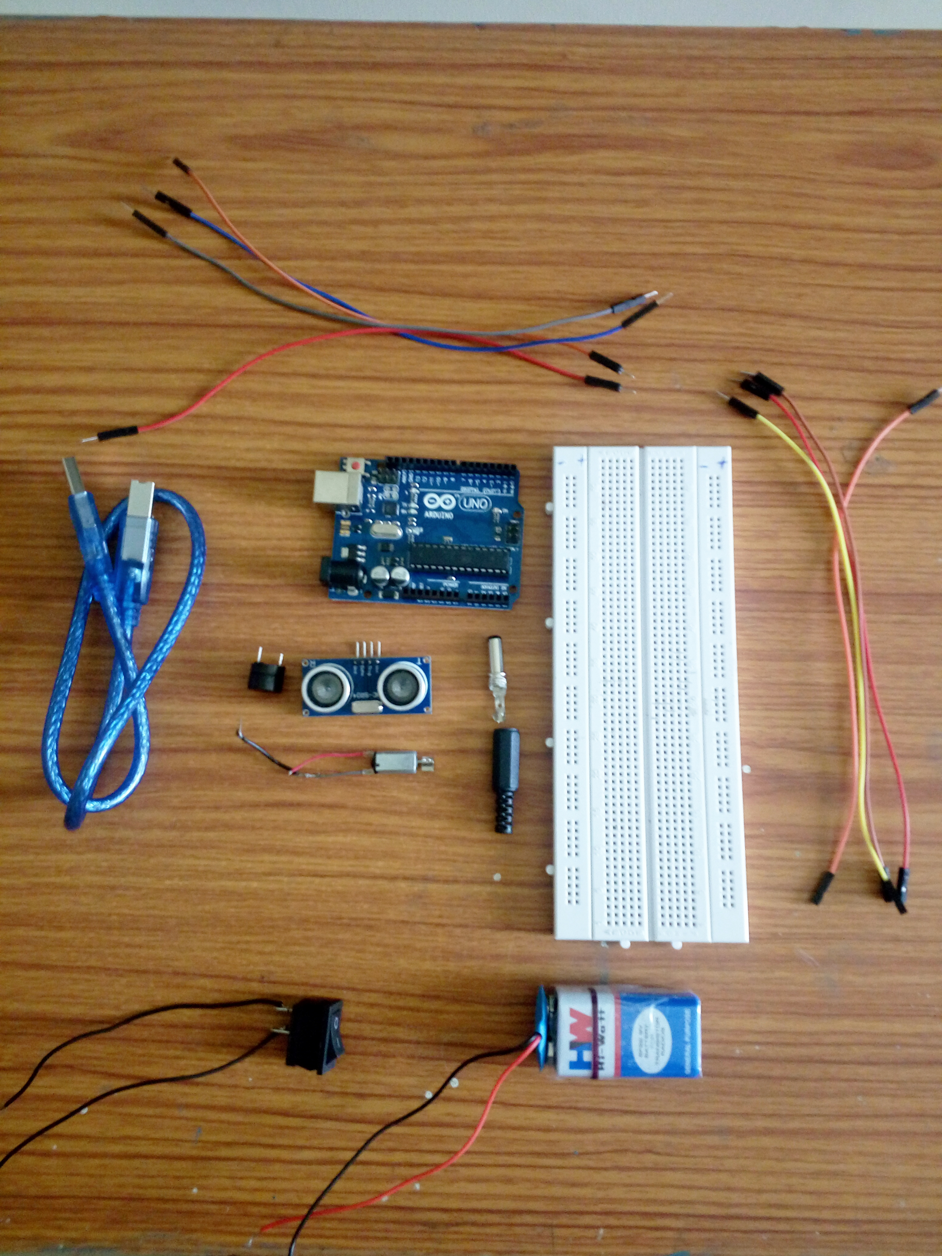 Picture of Components Required: