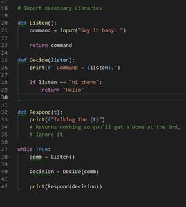 Code - Python Can Talk!!