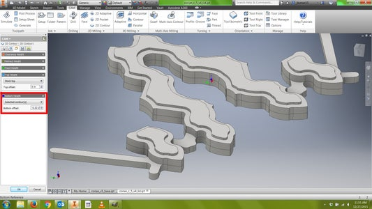 CAM: Toolpath (Contour 2)