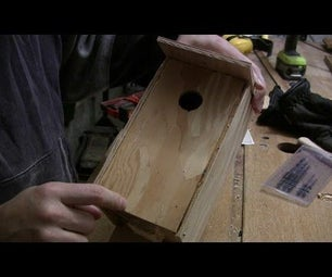 Simple birdhouse for Chickadee