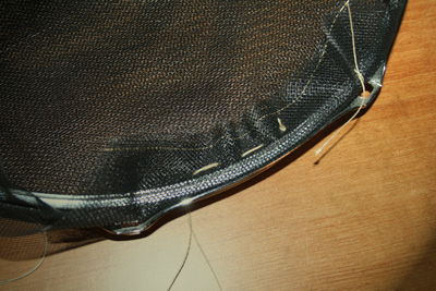 Picture of Sewed the Screen Onto the Rim