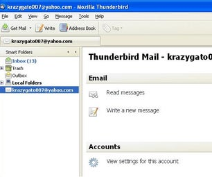 Using Yahoo on Thunderbird