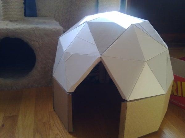 Cat-sized Cardboard Dome