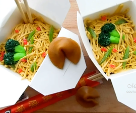 Takeout Lo Mein Cakes & Fortune Cookies