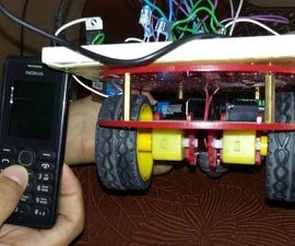Mobile controlled robotic car using arduino and DTMF