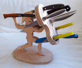Knife Block - Warrior