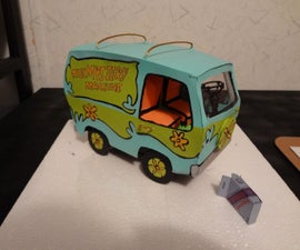 Scooby Doo Cardboard Electric Mystery Machine