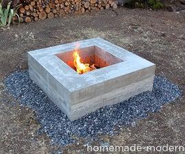 HomeMade Modern DIY Concrete Fire Pit