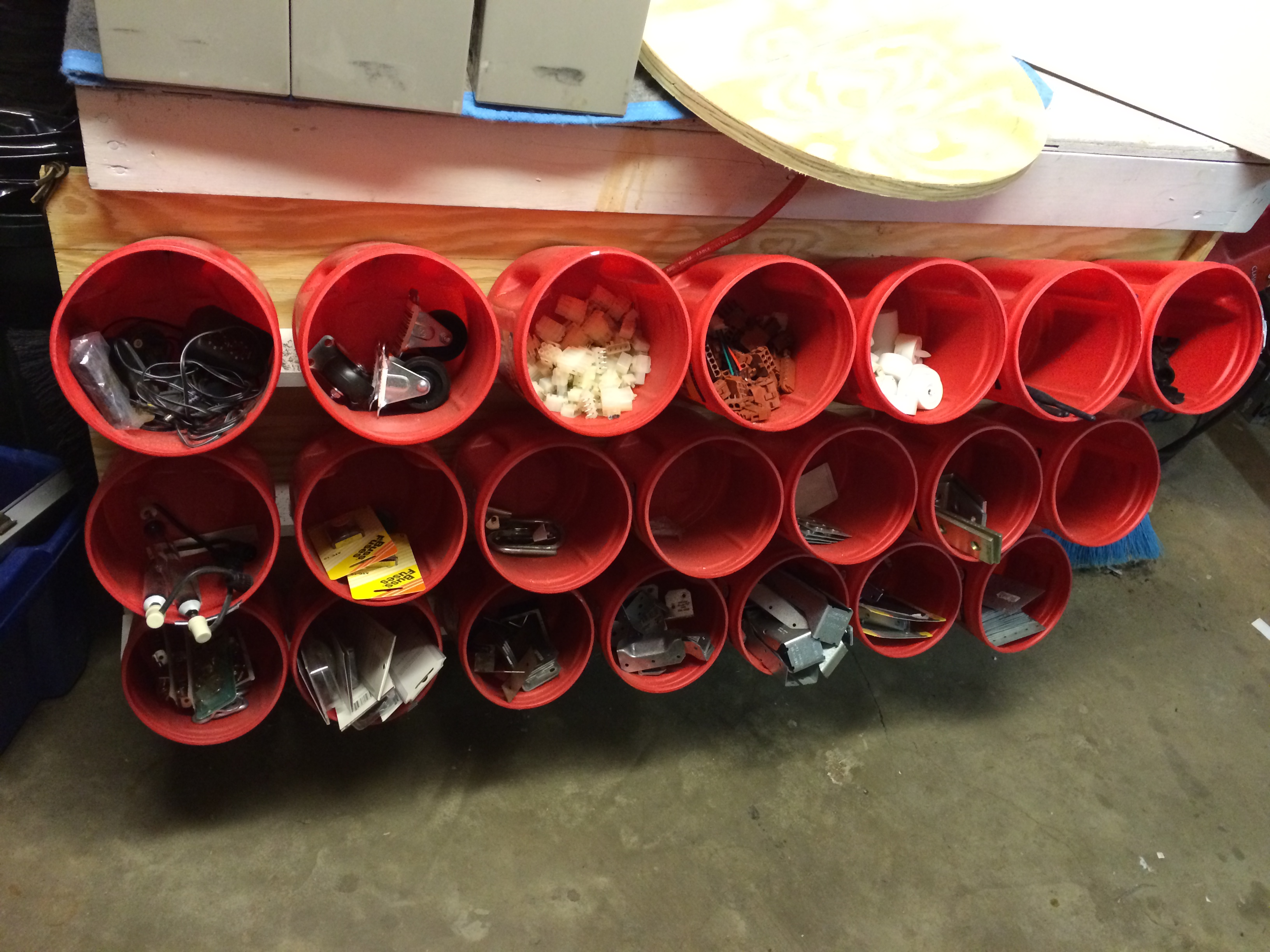 Picture of Storage Bin Rack From Recycled Plastic Coffee Containers