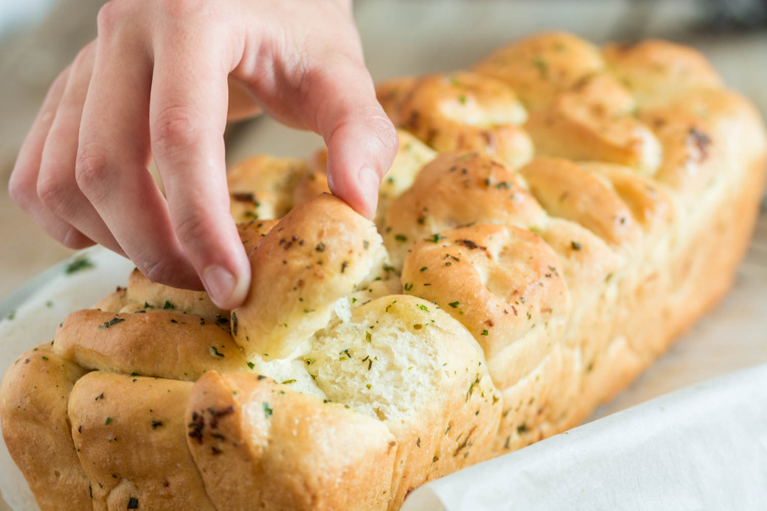 Picture of Garlic and Herb Pull-Apart Bread