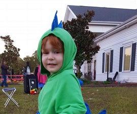 Diy dinosaur costume.