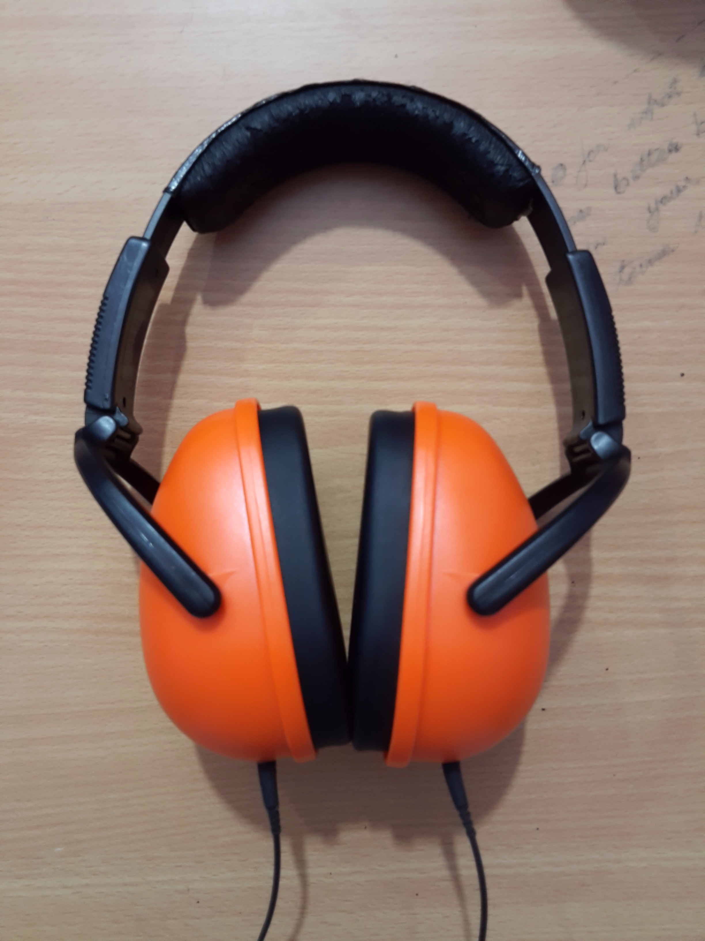 Picture of Sennheiser HD201 + Cheap Earmuffs = Perfectly Noise Proof Flat Natural Headphones & CHEAP Too!