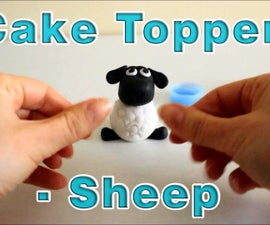 How to make a Sugar Paste Icing Fondant Sheep Cake Topper