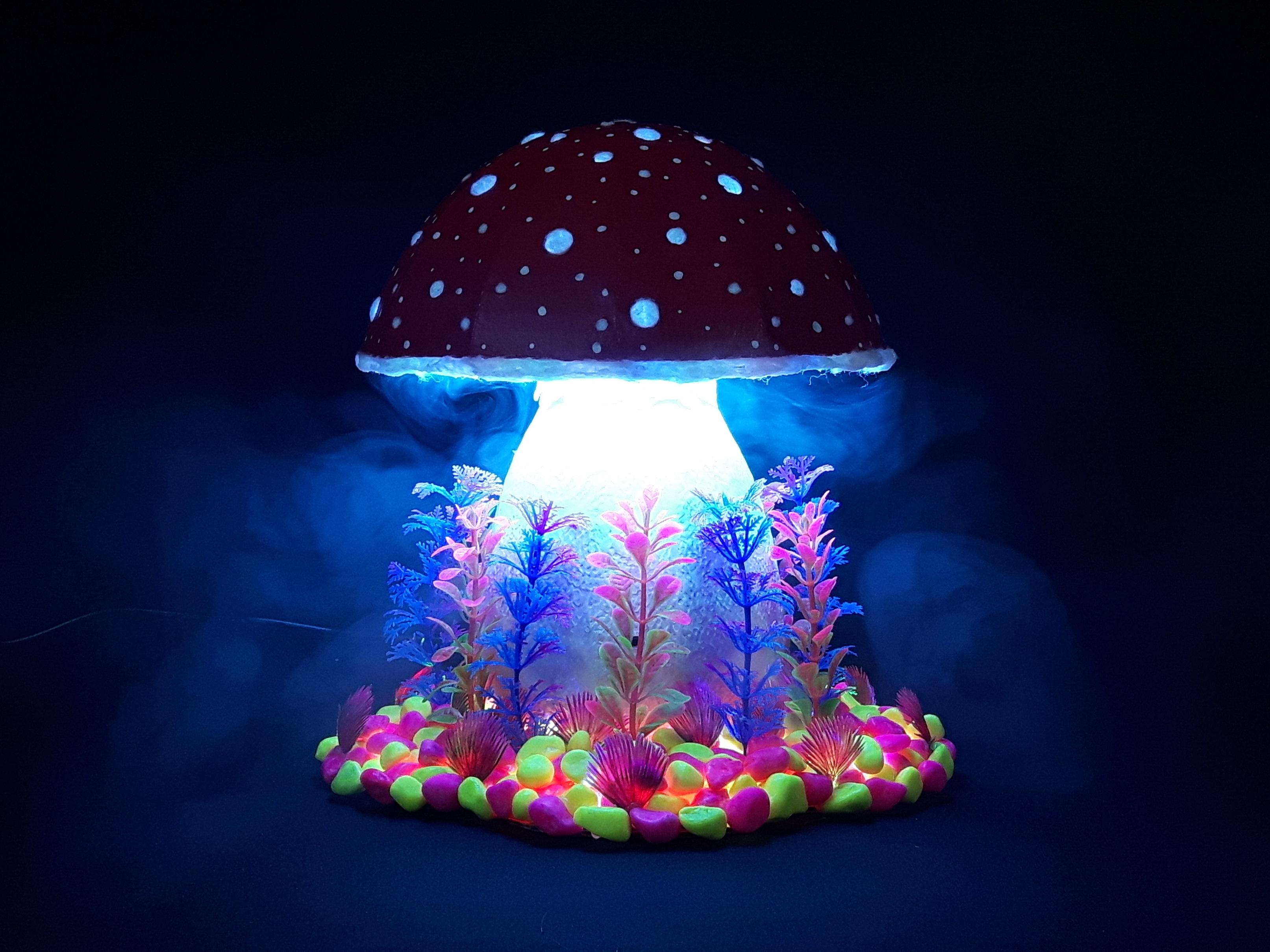Picture of Cardboard Magic Mushroom Lamp