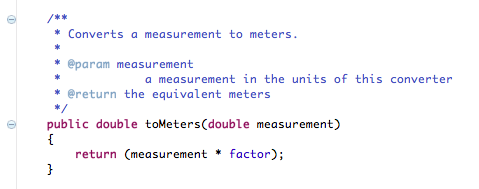 Implement ToMeters()